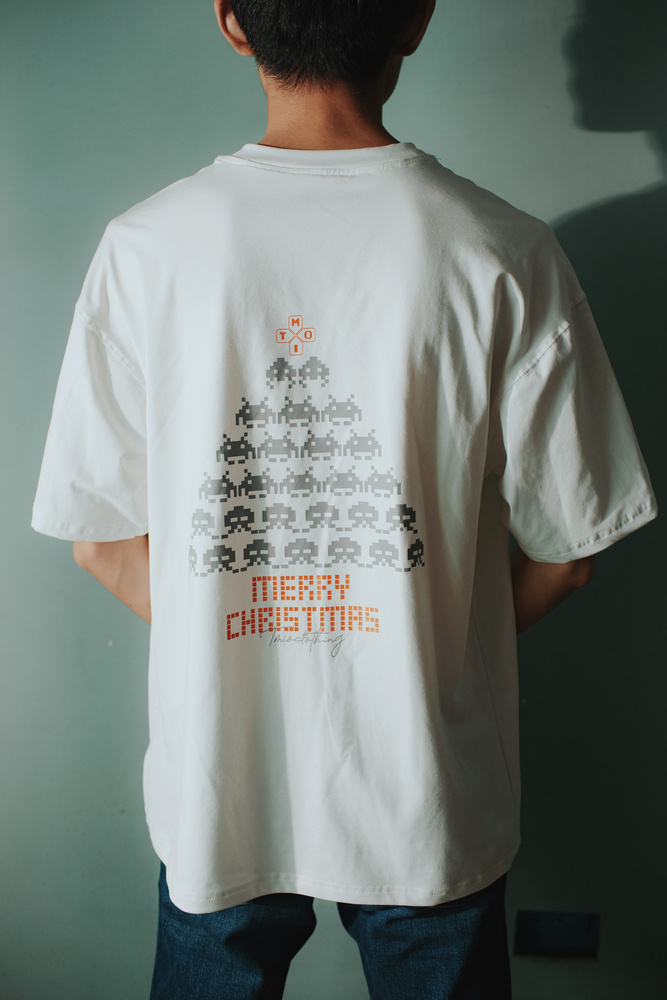 MERRY CHRISTMAS SILVER T-SHIRT