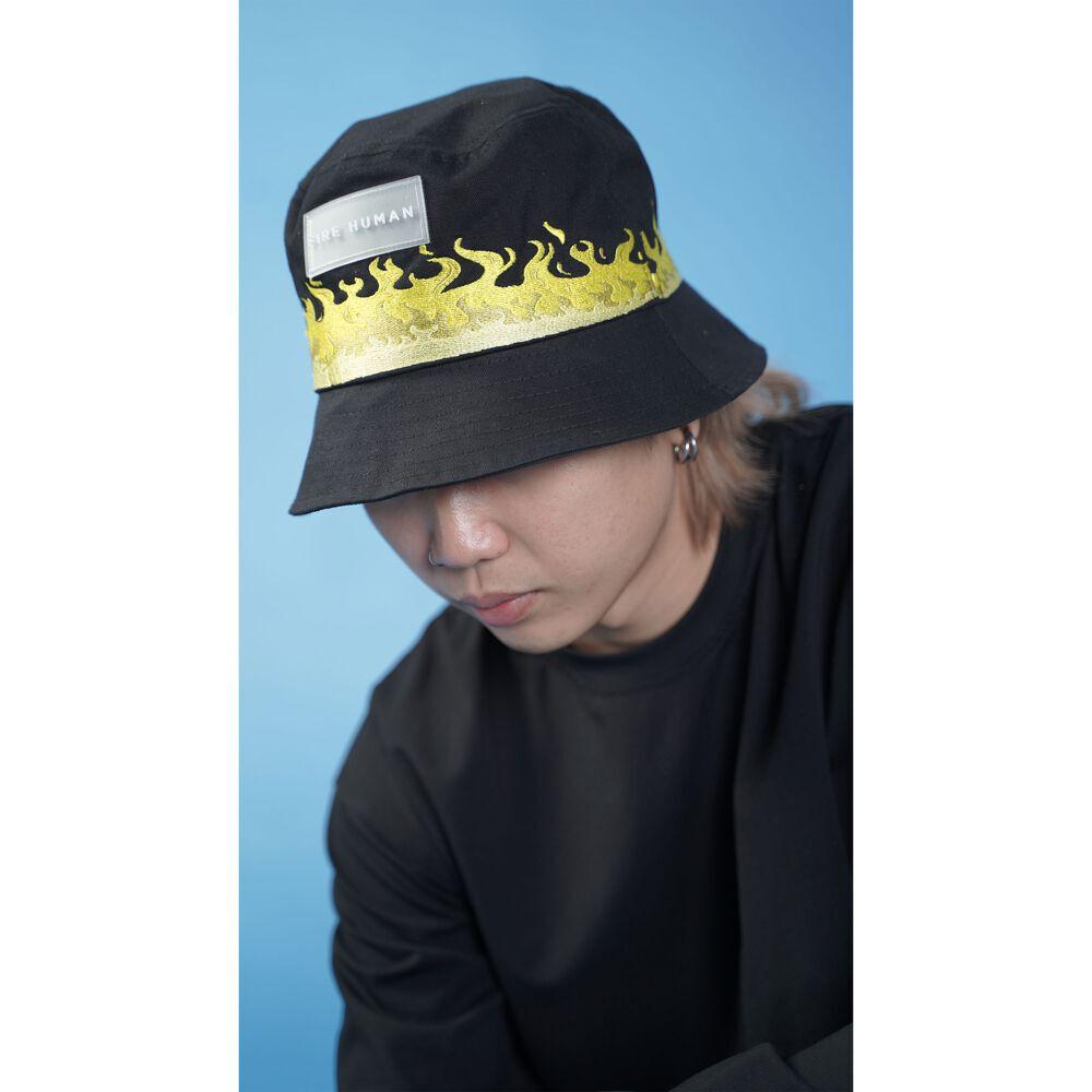 FIRE HUMAN©️ FLAME BUCKET HAT