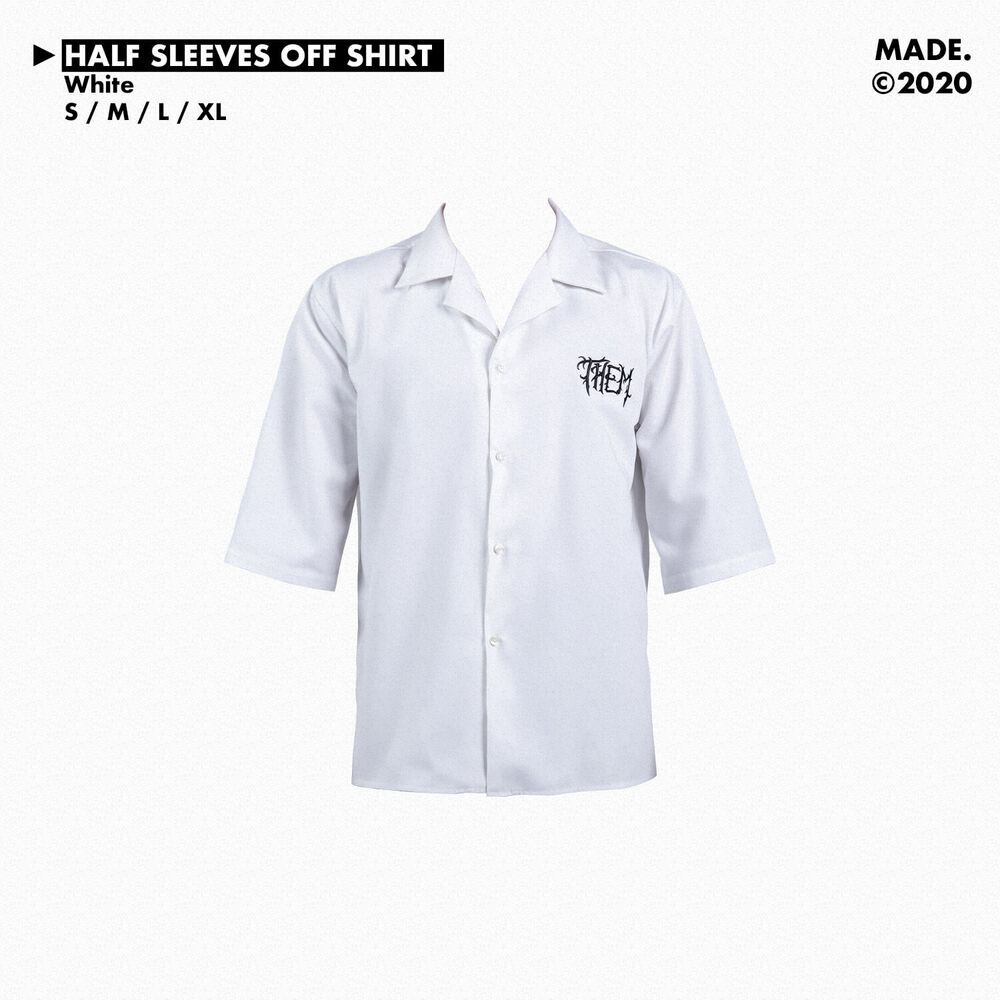 HALF SLEEVES OF SHIRT IN WHITE