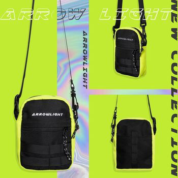 Arrowlight reflective mini bag - Neon Black